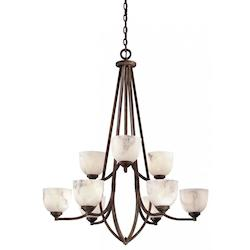 9 Light Calavera Chandelier in Nutmeg - 234974