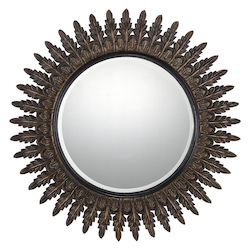 Round Mirror in Rich Bronze Finish - Savoy House 4-AGFC05015-214