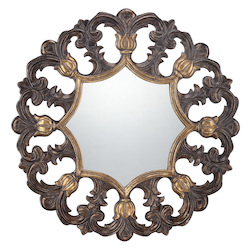 Round Mirror in Gold Finish - Savoy House 4-BLGF409ET-228