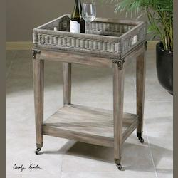 Davaughn Wooden Serving Cart - 235634