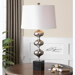 One Light Silver Table Lamp