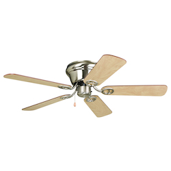 Indoor Hugger Ceiling Fan with Brushed Nickel Finish - 248549