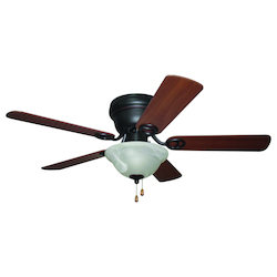1 Light Indoor Hugger Ceiling Fan with Oil Rubbed Bronze Finish - 248553