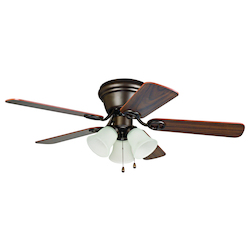 3 Light Indoor Hugger Ceiling Fan with Oil Rubbed Bronze Finish - 248554