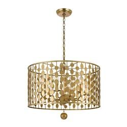 Layla 6 Light Antique Gold Chandelier - Crystorama 546-GA