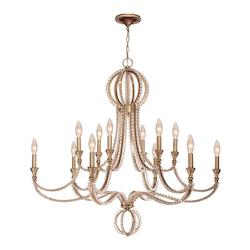 Garland 12 Light Distressed Twilight Crystal Bead Chandelier