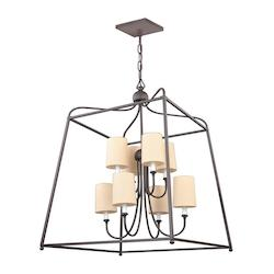 Libby Langdon for Sylvan 8 Light Dark Bronze Chandelier
