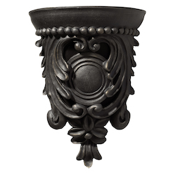Carved Corbel Decorative Wall Sconce Chime with Bronze Finish - 248732