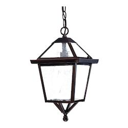 One Light Architectural Bronze Hanging Lantern - Acclaim Lighting 7616ABZ