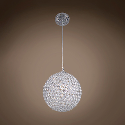 4 Light Sphere Pendant Light in Chrome Finish with Clear Crystal - 249550