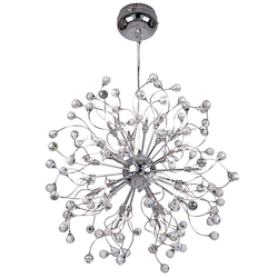 32 Light Hanging Pendant Light in Chrome Finish with Clear Crystal - 249556
