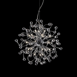 24 Light Crystal Hanging Pendant Light with Chrome Finish - 249559