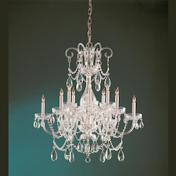 Six Light Polished Brass Clear Hand Cut Glass Up Chandelier - Crystorama 1035-PB-CL-MWP