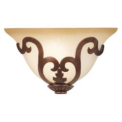 Antique Copper / Smoked White 7355 Florentine 1 Light Ada Compliant Wall Sconce