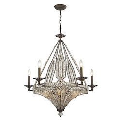 Jausten 10 Light Chandelier In Antique Bronze - 287021