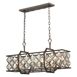 Armand 6 Light Island In Weathered Bronze - 287085