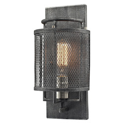 Slatington 1 Light Sconce In Silvered Graphite/ Brushed Nickel - 287091