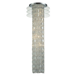 Zoey 6 Light Chandelier In Polished Chrome - 287100