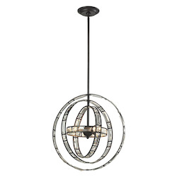 Crystal Orbs 3 Light Pendant In Oil Rubbed Bronze - 287130
