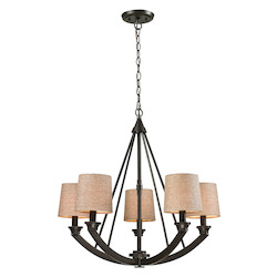 Morrison 5 Light Chandelier In Oil Rubbed Bronze - 287151