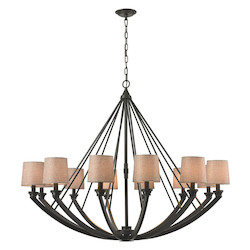 Morrison 12 Light Chandelier In Oil Rubbed Bronze - 287152
