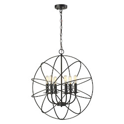 Yardley 6 Light Chandelier In Oil Rubbed Bronze - 287159