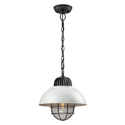 Darby 1 Light Pendant In Oil Rubbed Bronze/ white - 287308