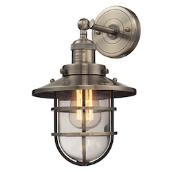 Seaport 1 Light Sconce In Antique Brass - 287323