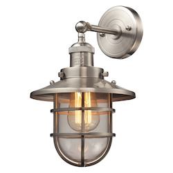 Seaport 1 Light Sconce In Satin Nickel - 287325