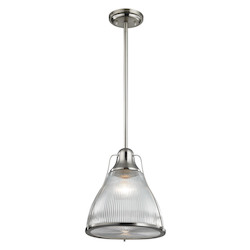 Halophane 1 Light Pendant In Brushed Nickel - 287366