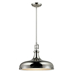 Rutherford 1 Light Pendant In Polished Nickel - 287406