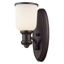 1 Light Sconce In Oiled Bronze - 287452