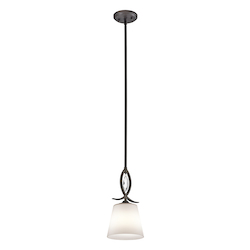 Olde Bronze Casilda 1 Light Mini Pendant