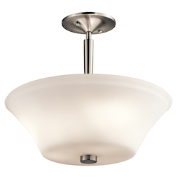 Brushed Nickel Aubrey 3 Light Semi-Flush Ceiling Light