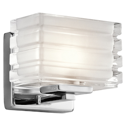 Chrome Bazely 6In. Wide 1 Light Wall Sconce