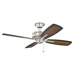 Brushed Nickel Eads 52in. Indoor Ceiling Fan with 4 Blades - Includes 4.5in. Downrod