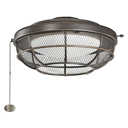 Industrial Mesh Light Fixture