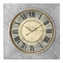 Uttermost Rue De Paris Square Wall Clock - 297694