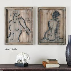 Silhouettes Wood Wall Art S/2 - 297704