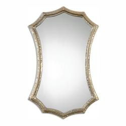 Oxidized Silver Champagne With Light Gray Glaze Mesdoura 30in. x 19in. Wall Mirror