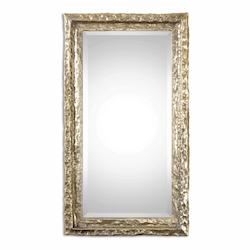 Oxidized Silver Champagne With Light Gray Wash Senara 44in. x 25in. Wall Mirror