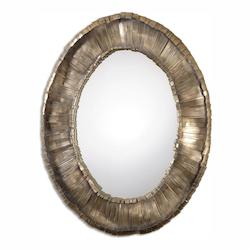 Oxidized Silver With Heavy Gray Wash Vevila 41In. X 33In. Wall Mirror