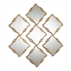 Antiqued Gold Terlizzi Wall Mirror - 3 Piece Set
