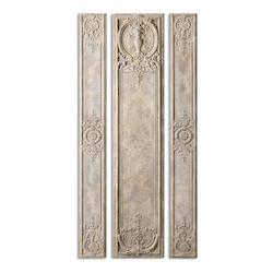 Uttermost Argentario Aged Ivory Panels, S/3 - 297761