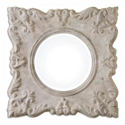 Uttermost Cautano Gray-Ivory Square Mirror - 297781