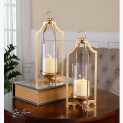 Lucy Gold Candleholders S/2 - 297858