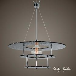 Gyrus 1 Light Smoke Glass Chandelier - 297875