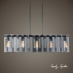Everly 5 Light Smoke Glass Island - 297876