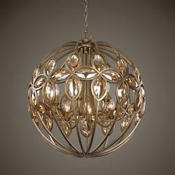 Ambre 8 Light Gold Sphere Chandelier - 297878