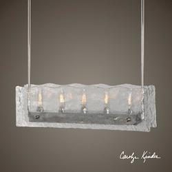 Cheminee 5 Light Textured Glass Chandelier - 297879